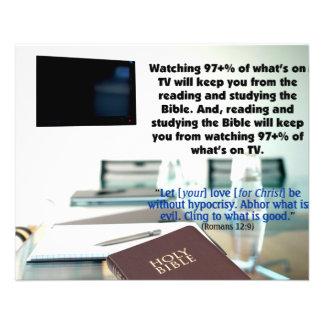 Watching TV 11.5 Cm X 14 Cm Flyer