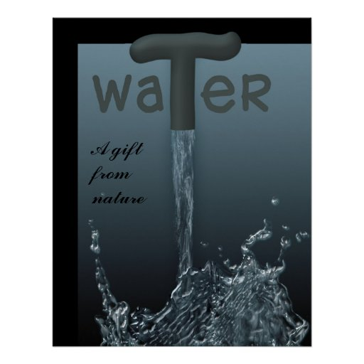 Water - A gift from nature 2 Poster