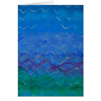 """""""Water"""" - a greeting card with acrylic painting"""
