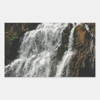 Water A Nice River Falls Rectangular Sticker