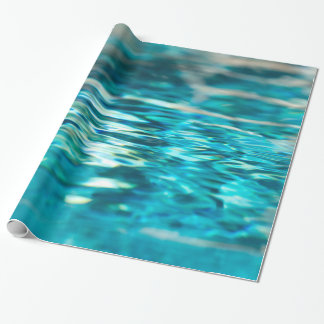 Water Abstract Blue Green Turquoise Aqua Sea Gift Wrap Paper