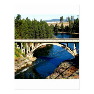 Water Alaskan River Bridge Postcard