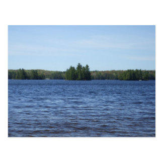 Water and Bue Sky Scene Postcard