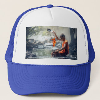 Water and Fire Trucker Hat