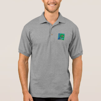 Water and Flower Polo Shirts