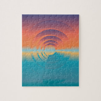 water and horizon jigsaw puzzle
