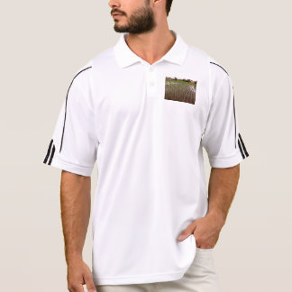 Water and paddy field polo shirt