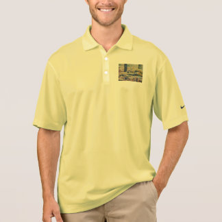 Water and river delta polo shirt