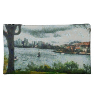 Water and scenery cosmetic bags
