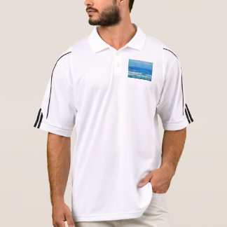 Water and sky polo shirts