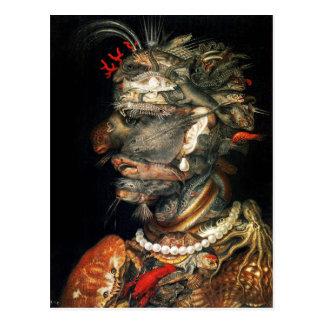 Water - Arcimboldo's bizarre head profile Postcard