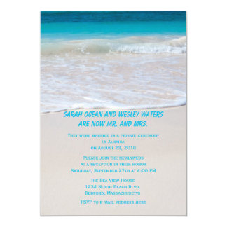 Water at the Shore Reception Only Card