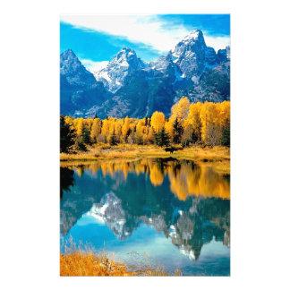 Water Autumn Grand Teton National Park Stationery Design