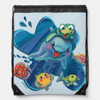 Water Babies Drawstring Bag