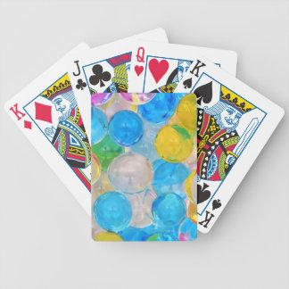 water balls bicycle playing cards