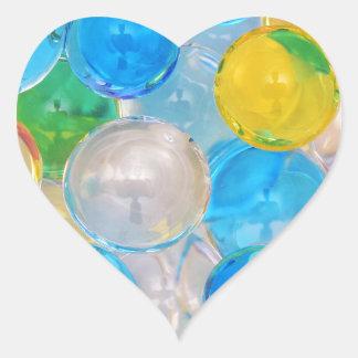 water balls heart sticker