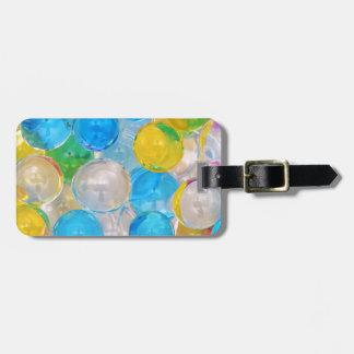 water balls luggage tag