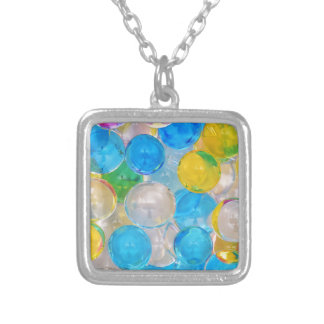 water balls silver plated necklace