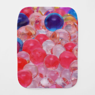 water balls texture burp cloth