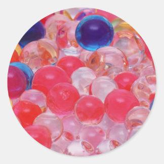 water balls texture classic round sticker