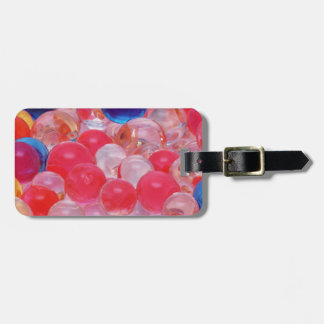 water balls texture luggage tag