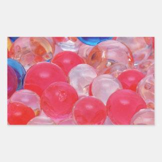 water balls texture rectangular sticker
