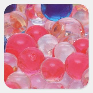 water balls texture square sticker