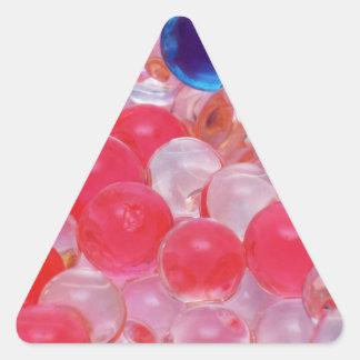 water balls texture triangle sticker