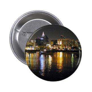 Water Bay City Lights Reflections Ripples Nighttim Pin