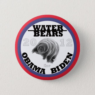 Water Bears for Obama/Biden 2012 6 Cm Round Badge