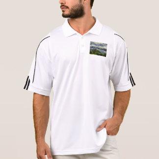 Water beyond polo shirt