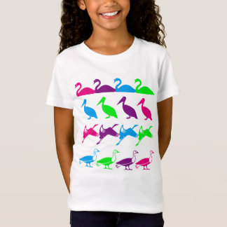 Water Birds Design T-Shirt