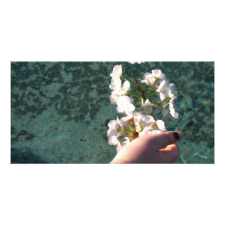 Water Blossoms Customised Photo Card
