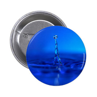 Water Blue Droplet Peaks Pinback Button