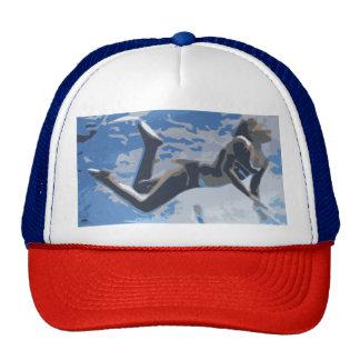 Water blue swimming diving underwater cap