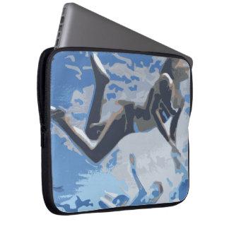 Water blue swimming diving underwater laptop computer sleeve