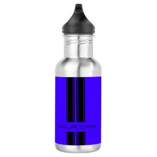 Water Bottle - Blue & Black Car 532 Ml Water Bottle