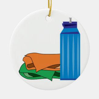 Water Bottle Ceramic Ornament