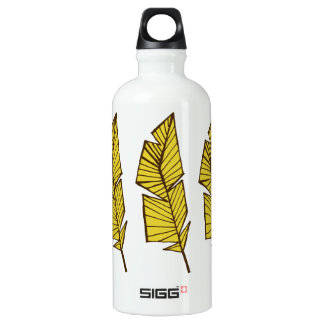 Water bottle geometric feathers SIGG traveller 0.6L water bottle
