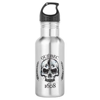 Water bottle grunge Metal Quebec skull biker/