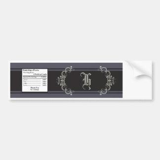 Water Bottle Label Black Tie Affair Gray Elegant Bumper Sticker
