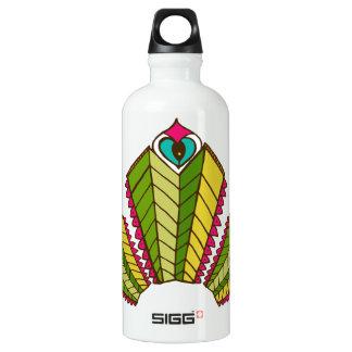 Water bottle peacock