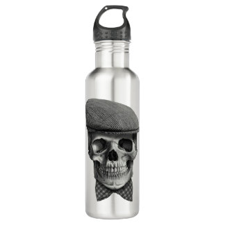 "Water bottle ""Skull of hat """