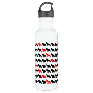 Water Bottle with Black & Red Elephant design 710 Ml Water Bottle