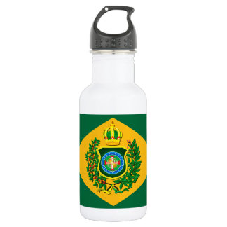 Water bottle with Imperial flag of Brazil