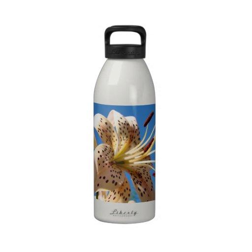 Water Bottles designer custom Lily Flowers nature