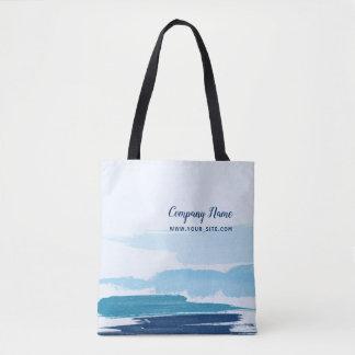 Water Brushstrokes Square Tote Bag