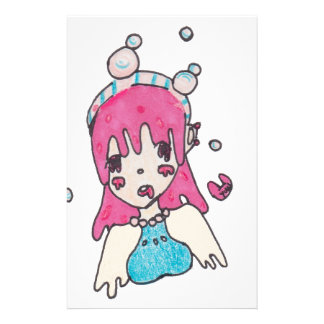 water bubble disolving chibi stationery