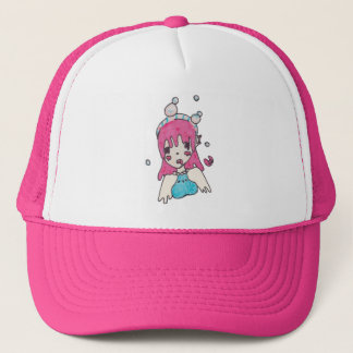 water bubble disolving chibi trucker hat
