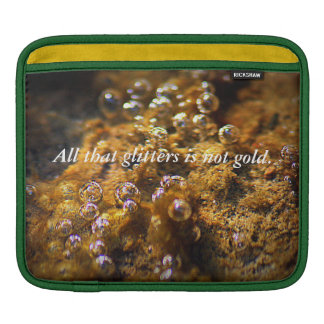 Water Bubbles...All that Glitters iPad Sleeves